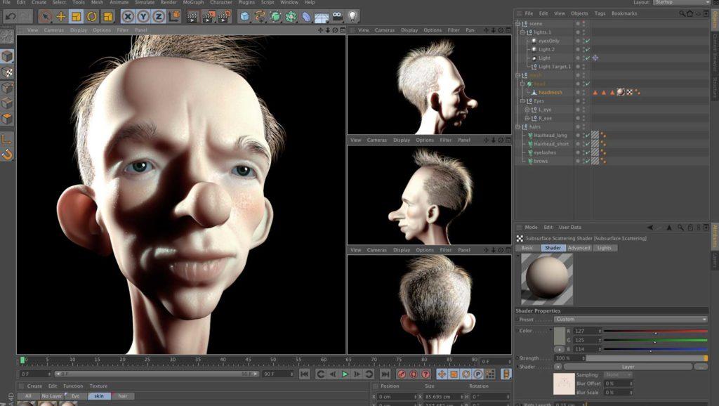 Modélisation 3D pour création application VR agence 4d crea