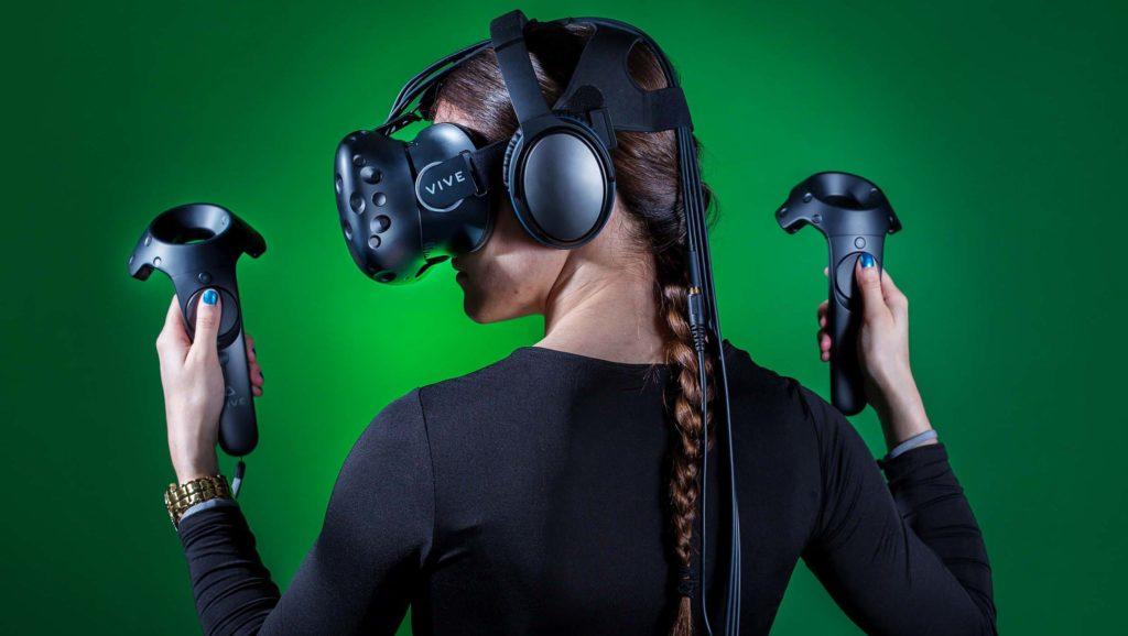 Utilisateur réalité virtuelle htc vive