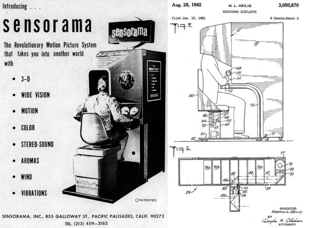 histoire, realite virtuelle, sensorama, 1957