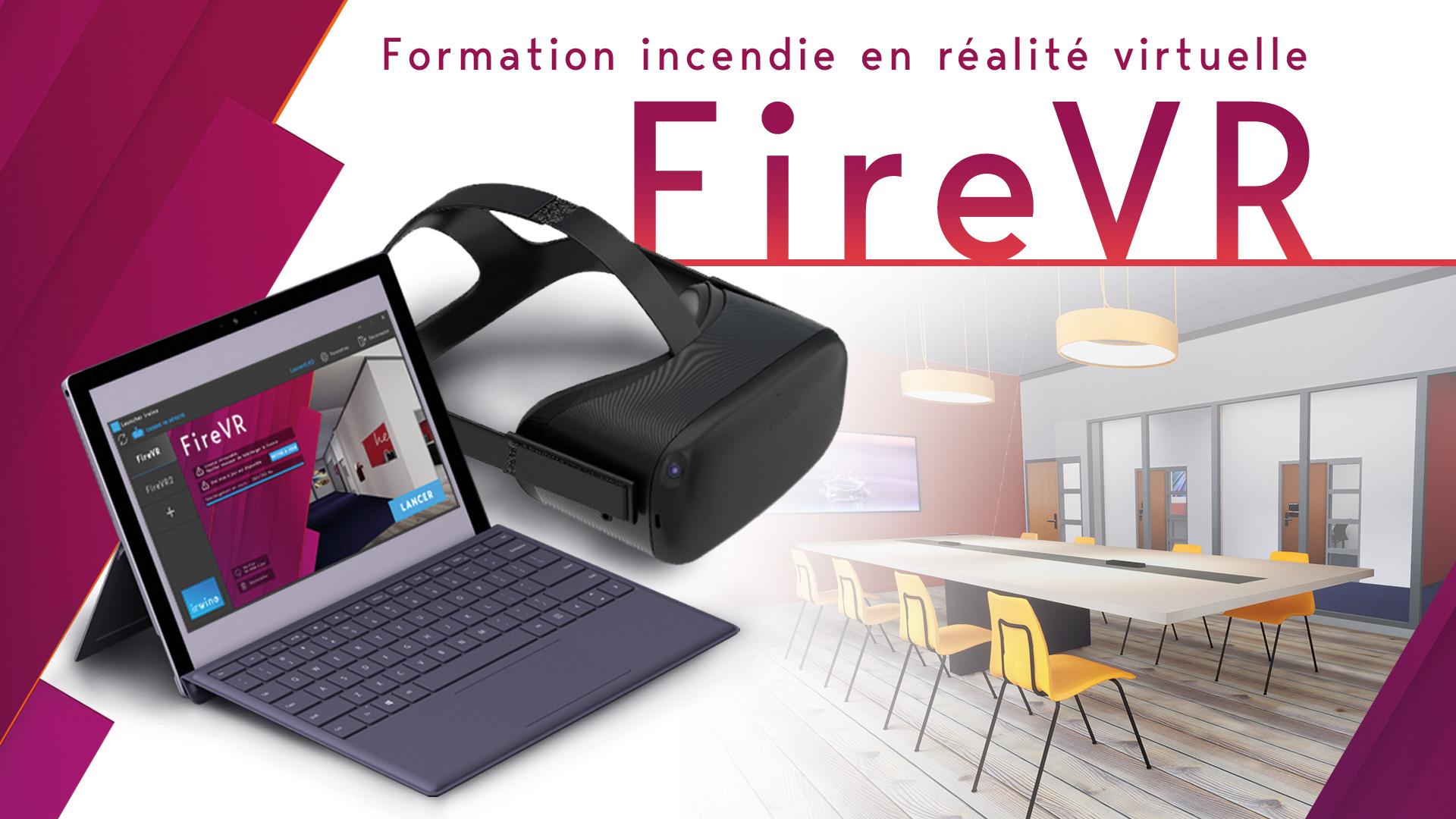 Fire VR, simulateur incendie virtuel, formation sécurité incendie, réalité virtuelle, en entreprise